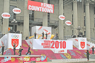 Preparing to Host Youth Olympics in Singapore Editorial Photography