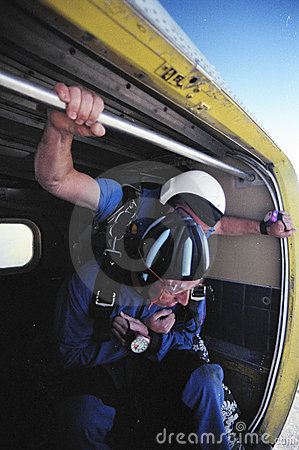 Preparing to Skydive