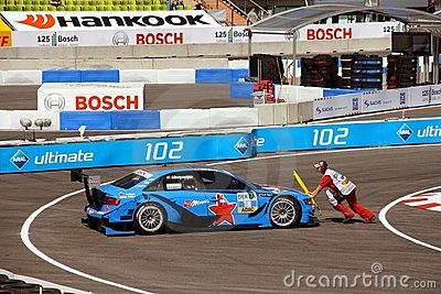 Preparing to Start for the DTM in Munich Editorial Image