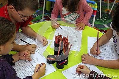Preschool children in activities Editorial Photography