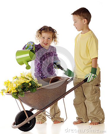 Free Preschool Gardeners Royalty Free Stock Image - 40968126
