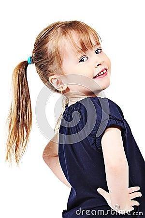 Preschool girl with ponytail