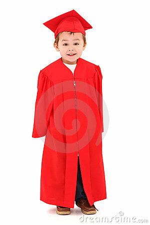 Preschool Graduate in Cap and Gown