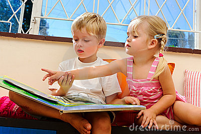 Preschool reading lesson