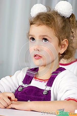 Preschooler girl