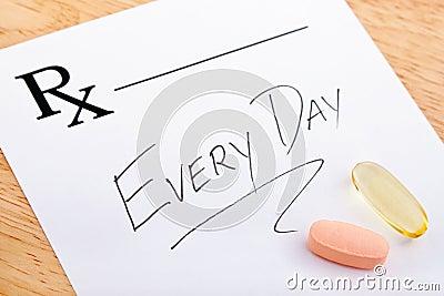 Prescrição da vitamina