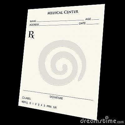 Free Prescription Pad Royalty Free Stock Photo - 2481375