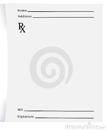 Prescription pad blank royalty free stock photos image for Prescription pad template download