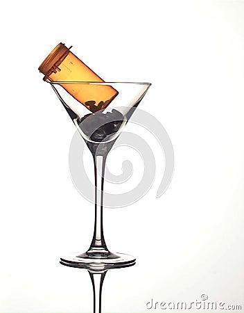 prescription Pills in a glass