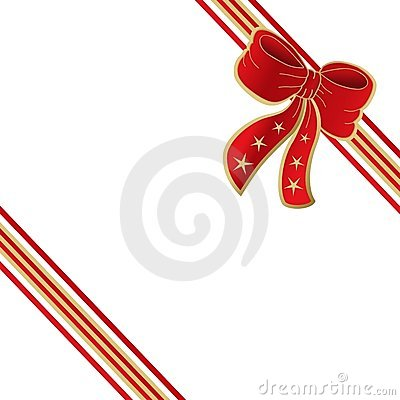 Present ribbon bow isolated