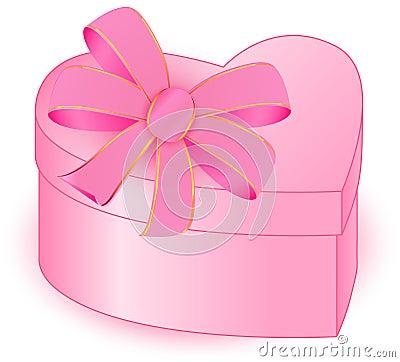PRESENT BOX HEART closed