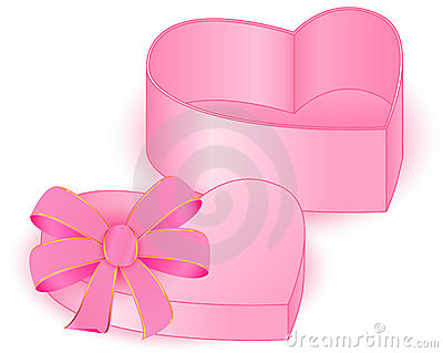PRESENT BOX HEART near
