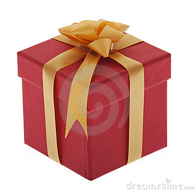 Present, box with jewelry ribbon