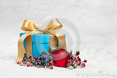 Present in festive decoration