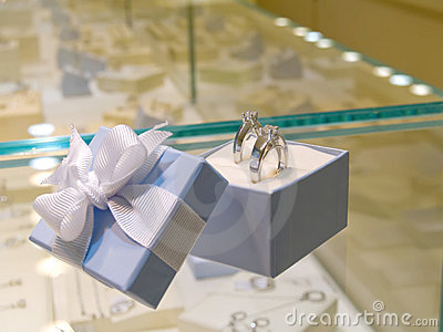 Present gift in jewelry shop