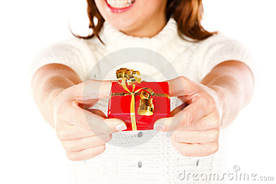 Present Giving Girl