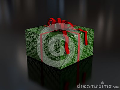 Present in green wrapping paper