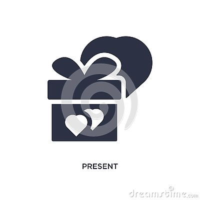 present icon on white background. Simple element illustration from love & wedding concept Vector Illustration