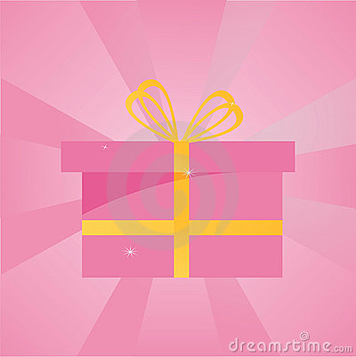 Present over pink background