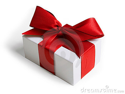 Present with ribbon and bow