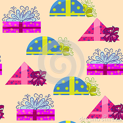 Present wrapping and holiday background