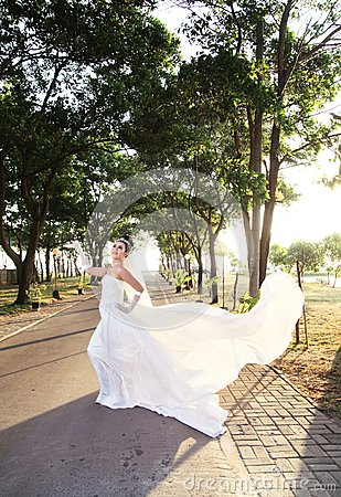 Presentación de la novia al aire libre