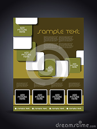Presentation of creative corporate flyer or cover