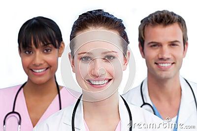 Presentation of a diverse medical team