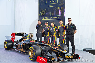 Presentation of the Lotus Renault E20, 2012 Editorial Stock Photo