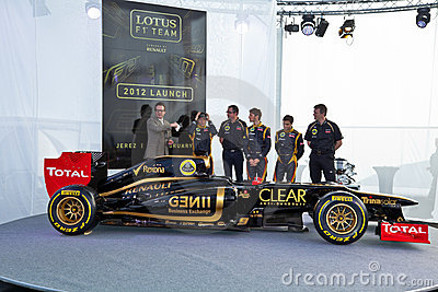 Presentation of the Lotus Renault E20, 2012 Editorial Image