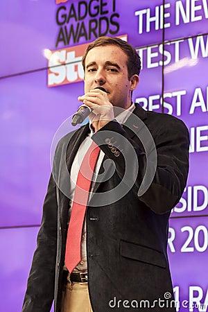 PRESENTATION, MOBILE WORLD CONGRESS 2014 Editorial Stock Photo