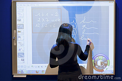 Presentation of a professional e-screen Editorial Stock Photo