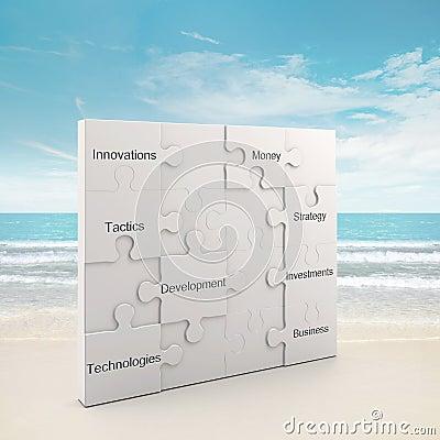 Presentation puzzle concept