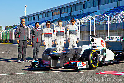 Presentation of the Sauber C-31, 2012 Editorial Stock Image