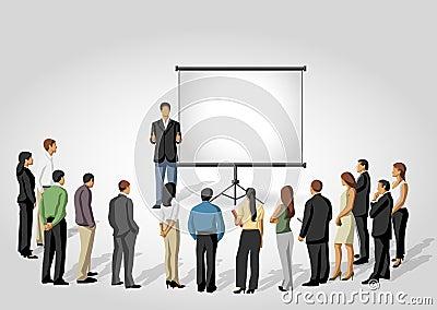 Presentation screen.