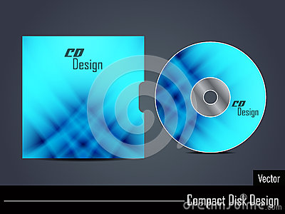 Presentation of vector cd cover design.
