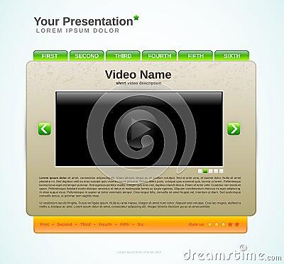 Presentation website template