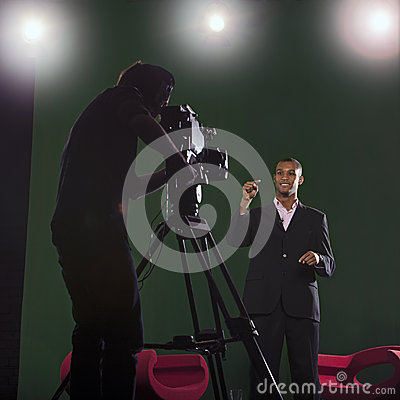 Free Presenter And Studio Lights Stock Images - 29295204