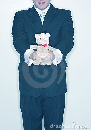 Free Presenting A Stuffed Bear Royalty Free Stock Photo - 2383945