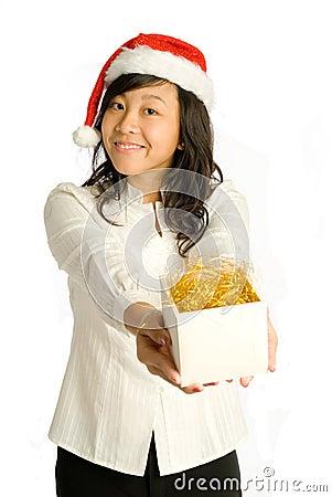 Presenting Christmas Gift