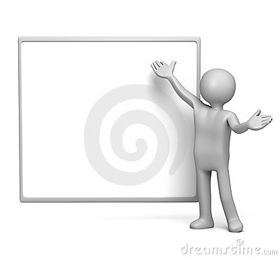 Presenting on empty whiteboard