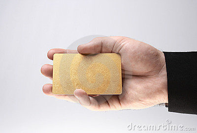 Presenting a golden card