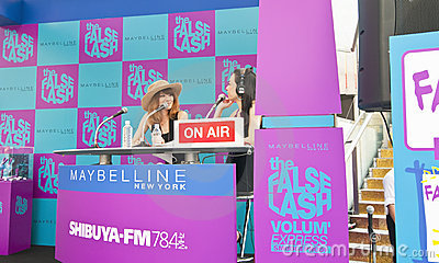 Presenting Radio 78.4 FM in Tokyo Shibuya Editorial Photography