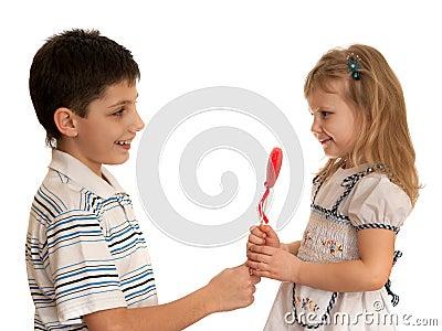 Presenting valentine