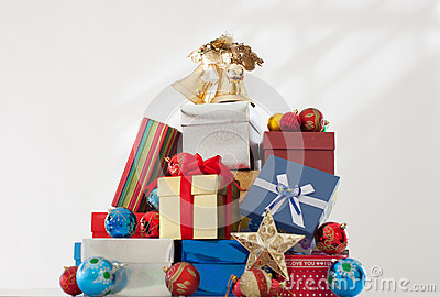 Pile of wrapped presents