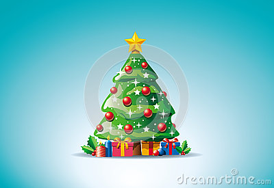 Presents around Christmas tree