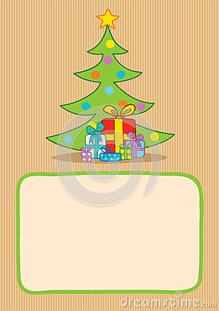 Presents and christmas tree