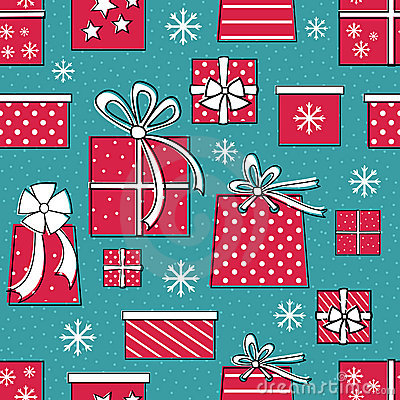 Presents Seamless Pattern