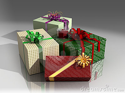 Presents in wrapping paper