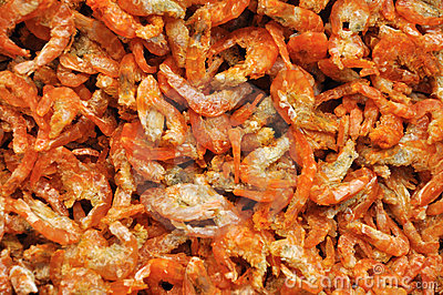 Preserved dry shrimp